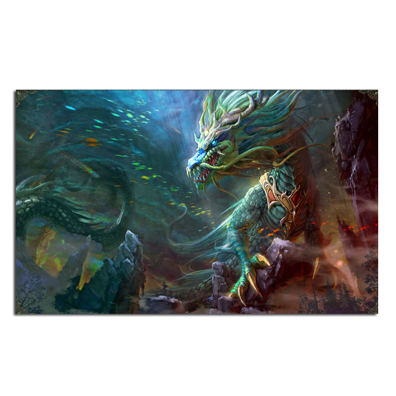 Dragon 65x40cm New Full Area Highlight Diamond Needlework Diy Diamond Painting Kit 3D Diamond Cross Stitch Embroidery