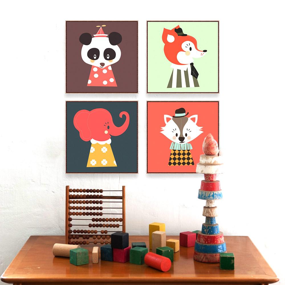Satin Almak Modern Kawaii Hayvan Kafasi Kedi Panda A4 Buyuk Sanat